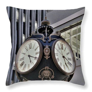 Clock Tower - Throw Pillow