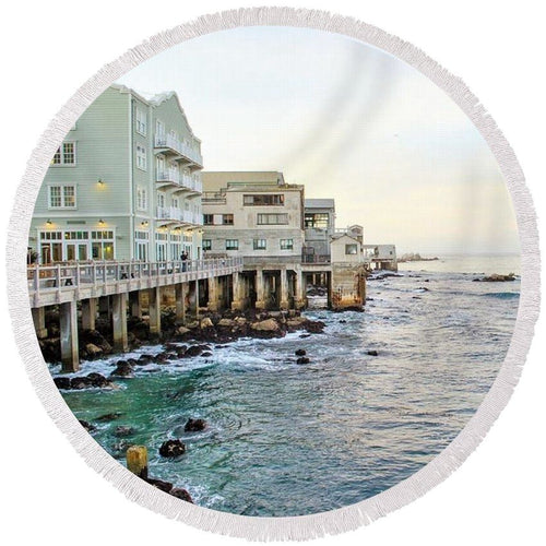 Sunset Waters - Round Beach Towel