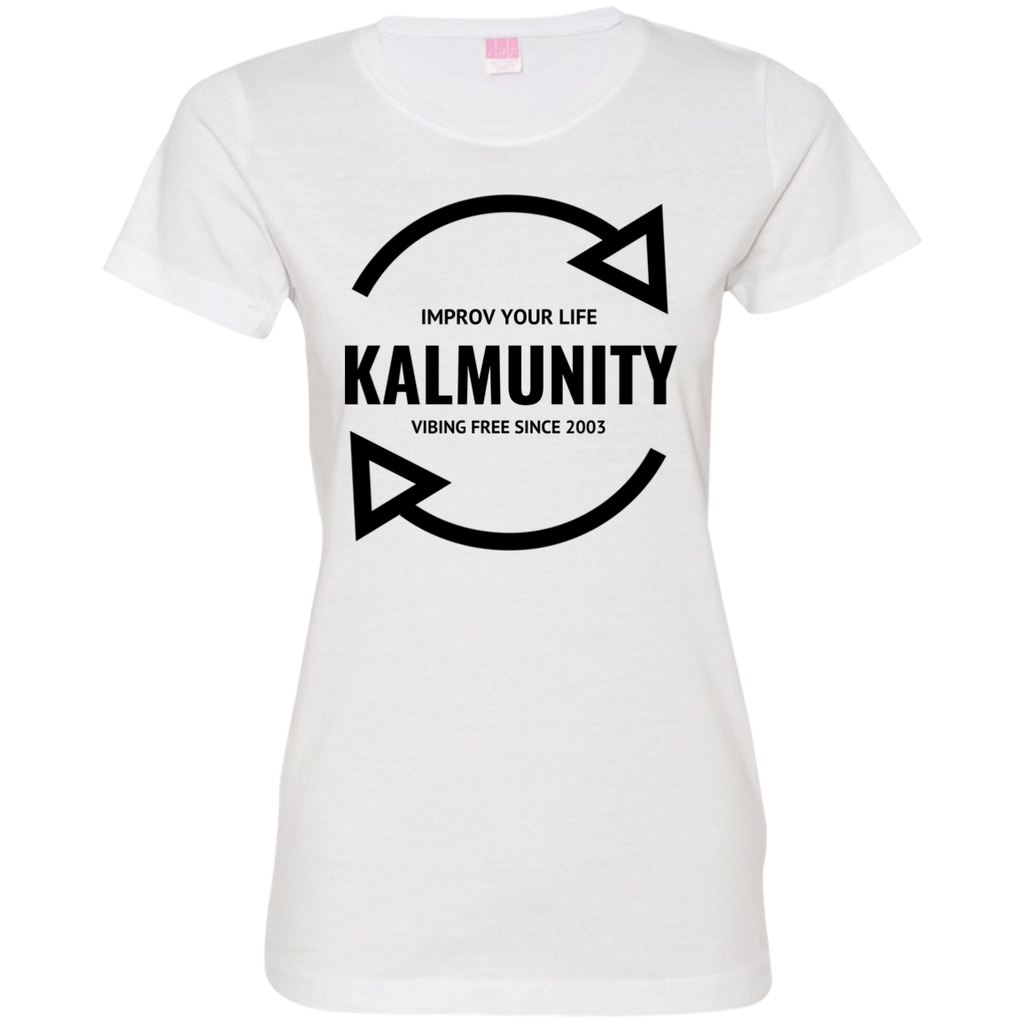 Kalmunity Ladies' Fine Jersey T-Shirt (White)