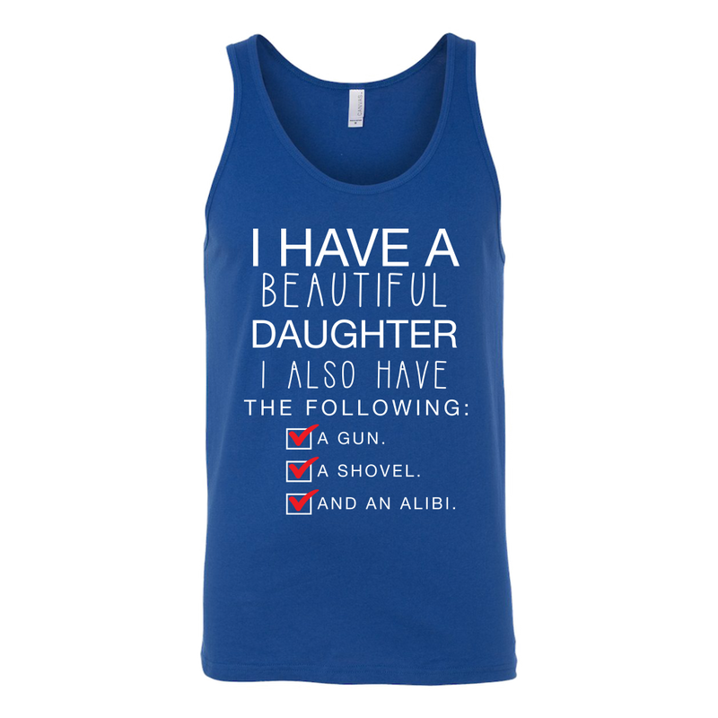 I Have a Beautiful Daughter Dad Tank Top - everbabies