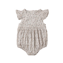 Butterfly Sleeve Floral Romper - everbabies
