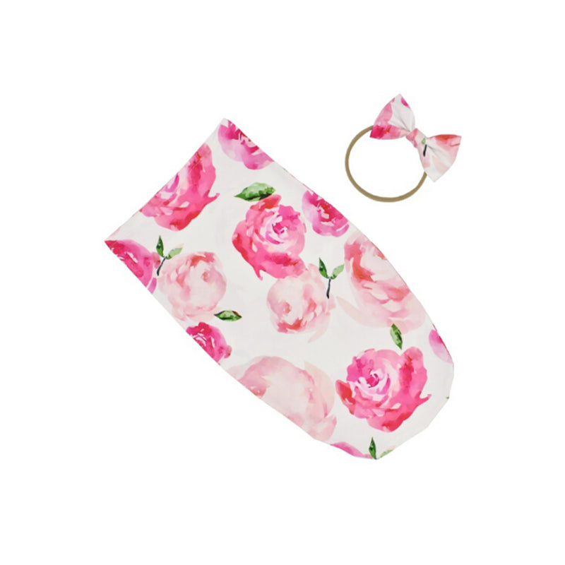 Botanical Swaddle and Headband Set SUPER DEAL