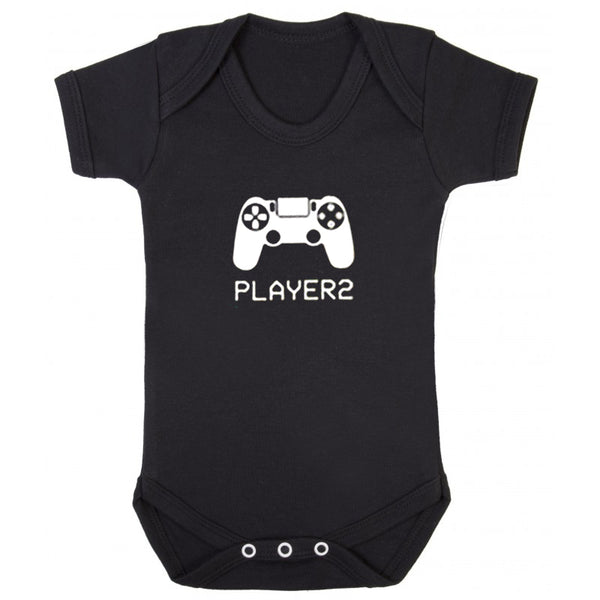 Dad and Baby Matching T-shirt and Onesie - Player 1 & 2 - everbabies