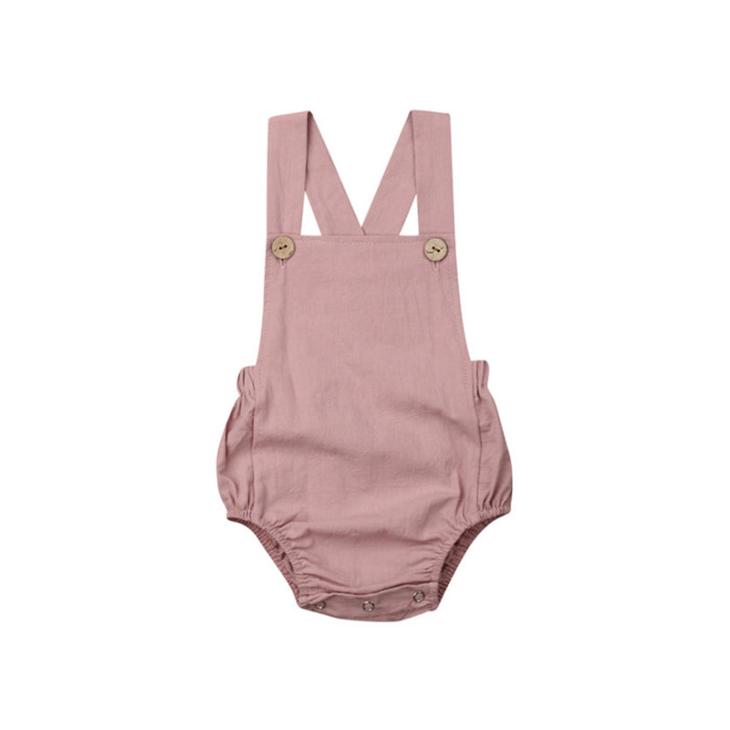 Baby Backless Rompers