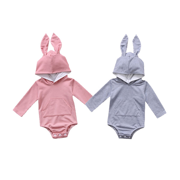 Rabbit Ear Hooded Onesie - everbabies