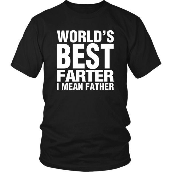 Worlds Best Farter I Mean Father Funny Dad T Shirt - everbabies