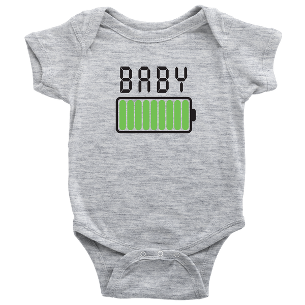 Mommy and Me Battey Shirt and Baby Onesie Matching Set