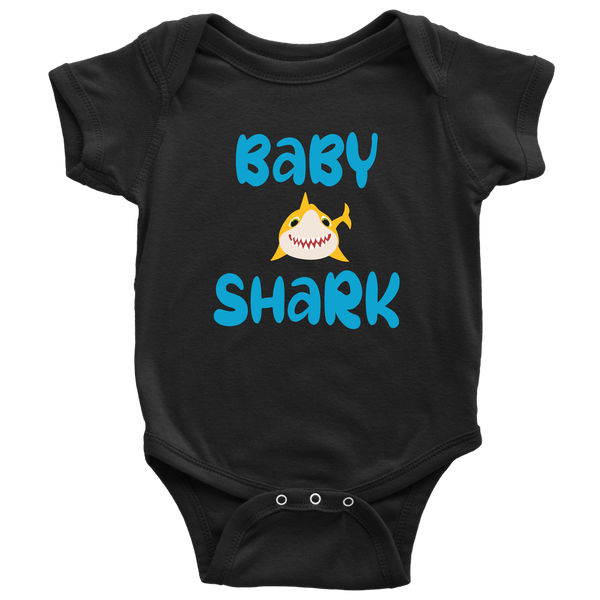 Daddy and Me Baby Shark Shirt and Baby Onesie Set