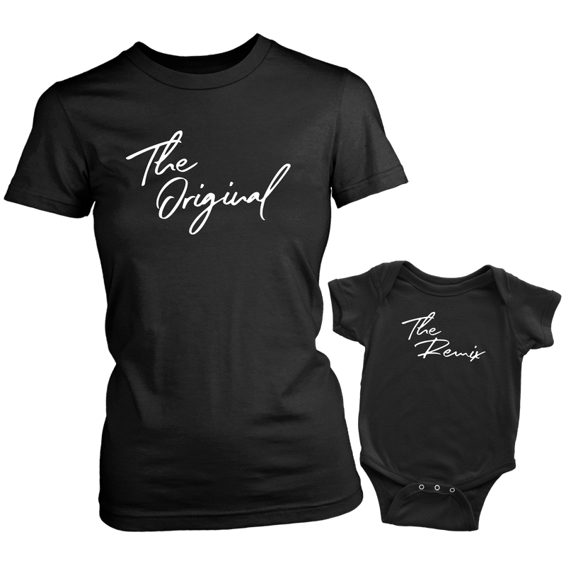 The Original and Remix Mom and Baby T Shirt Onesie Set - everbabies