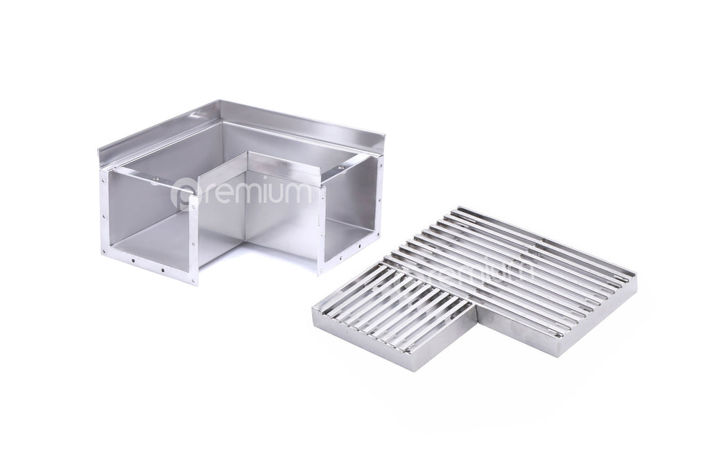Right Angle Channel : Mm wedge wire heelsafe linear grate channel right