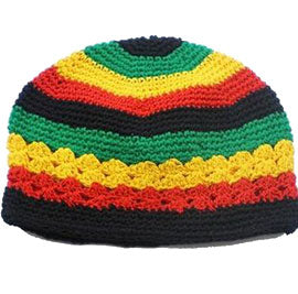 e94b99738a1 10pcs Jamaican Rasta hat Bob Marley hat Jameican hat tams fancy dress  costumes Crochet rasta beanies