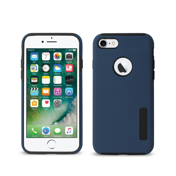 APPLE IPHONE 8 / 7 SLIM RUBBERIZED PROTECTIVE HYBRID CASE COVER BLUE