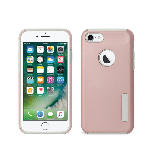 APPLE IPHONE 8 / 7 SLIM RUBBERIZED PROTECTIVE HYBRID CASE COVER ROSE GOLD