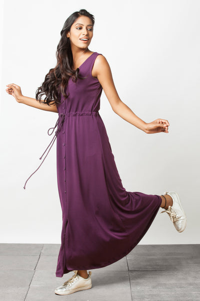 Purple Maxi dress - Sizes Left :  S-2 , M-1 , L-1
