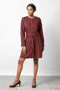 Smart Shirt Dress - Sizes Left : S-2, M- 2 , L-1