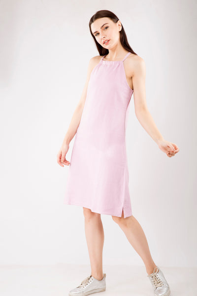 Linen Halter Neck Dress