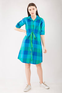 Handloom Checks Dress