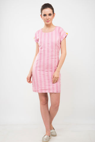 Pink Linen Bodycon Dress