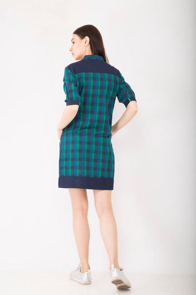 Green Checks Shift Dress : Sizes Left - S - 1, M- 2 , L-1