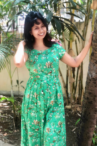 Chidiyaa -Mint Green Fit and Flare Dress
