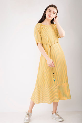 Fit and Flare Long Dress - LOW STOCK