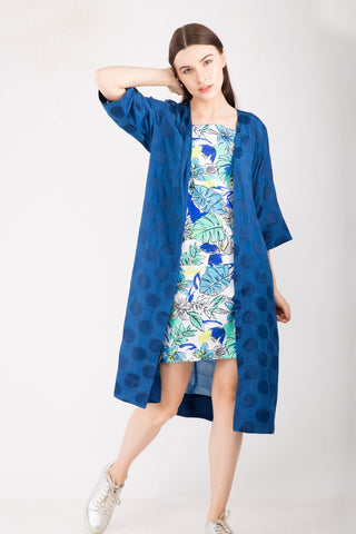 Navy Blue Cape , Free Size