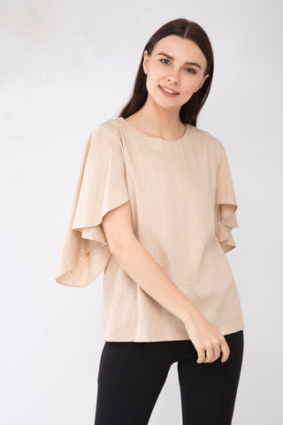 Brown Linen Top