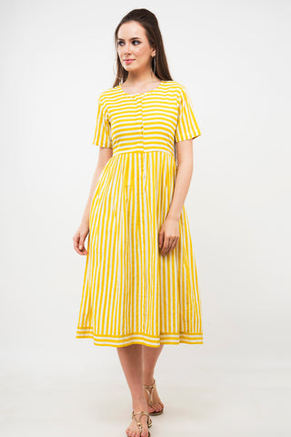 Yellow Stripes Tunic