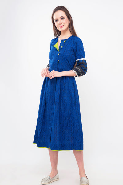 Royal Blue Cotton Tunic - At 50% discount