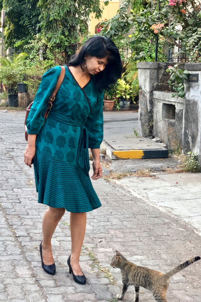 Fit and Flare Green Dress
