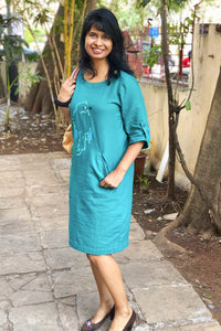 Chidiyaa - Green shift dress