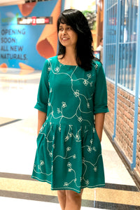Green Carnation Dress