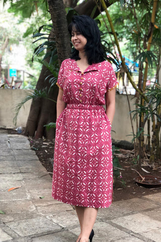 DayLily Dress- Floral Pink
