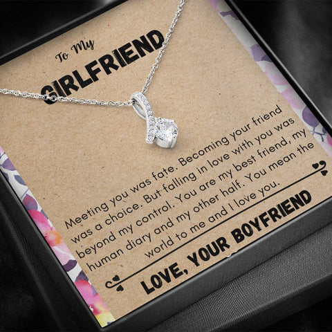 girlfriend mean the world to me