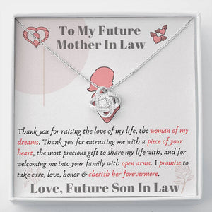 Lurve™ Future Mother In Law - Piece of Your Heart Love Knot Necklace