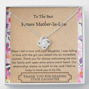 Lurve™ Future Mother In Law - Raised Incredible Woman Love Knot Necklace