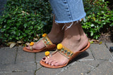 Marrakech - Gold and Yellow Sandals