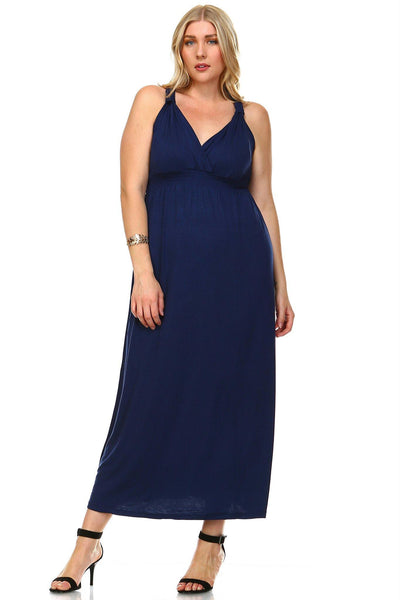 Women's Plus Size Surplice Maxi Dress
