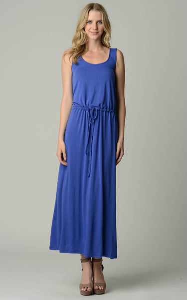 Women's Tie Waist Maxi Dress