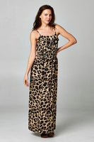 Women's Smocked Printed Maxi Dress