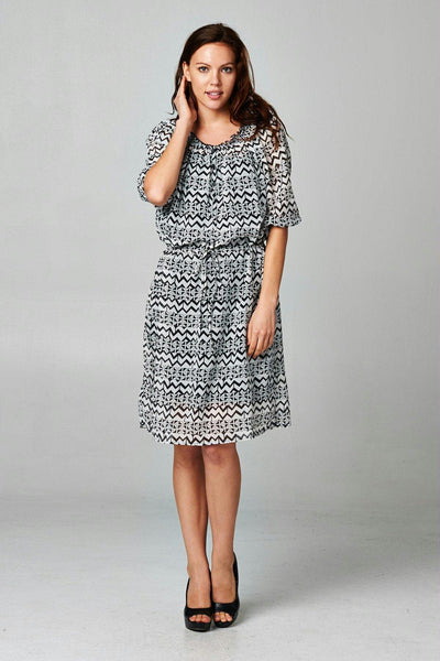 Women's Printed Chiffon Dress