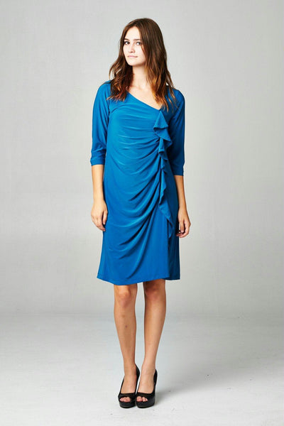 Women's Ruffle Front Midi Dress
