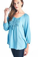 Women's Tassel Tie Loose Top