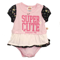 Infant Super Cute Pink/White Onesie