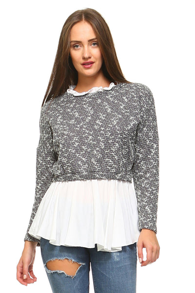 Women's Double Layer Knitted Sweater