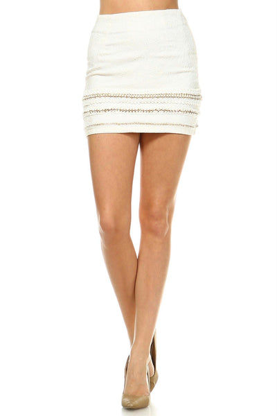 Women's Crochet Chained Skirt