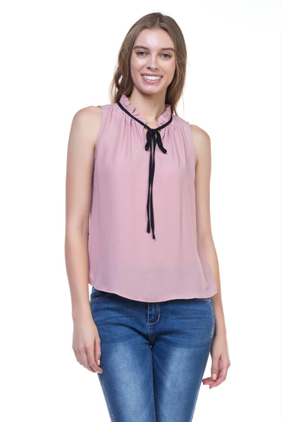 Women's Sleeveless Tie Flow Top