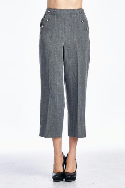 Larry Levine SPT Grey Stretch Capris