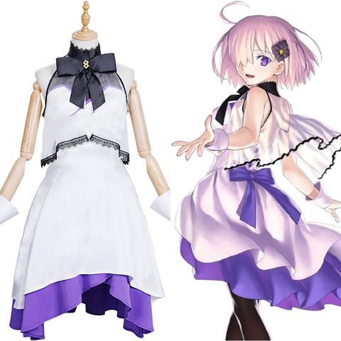 FGO Fate/Grand Order The Fifth Anniversary Mash Kyrielight Halloween Carnival Suit Cosplay Costume Dress Outfits