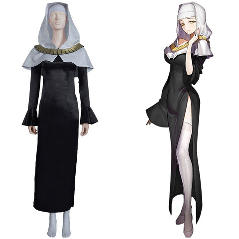 Fate/Grand Order FGO Sessyoin Kiara Halloween Carnival Suit Cosplay Costume Nun Robes Dress Outfits